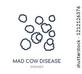 mad cow disease icon. mad cow... | Shutterstock .eps vector #1212126376
