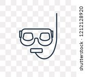 snorkel vector outline icon... | Shutterstock .eps vector #1212128920