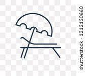 sunbed vector outline icon... | Shutterstock .eps vector #1212130660