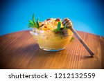 boiled sweet pumpkin porridge... | Shutterstock . vector #1212132559