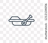 rowing vector outline icon... | Shutterstock .eps vector #1212134056