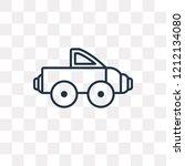 pickup truck vector outline... | Shutterstock .eps vector #1212134080