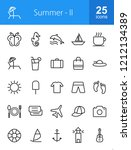 summer line icons | Shutterstock .eps vector #1212134389