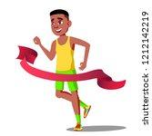 runner guy in competitions...   Shutterstock . vector #1212142219