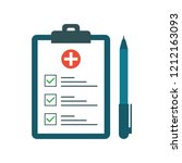 medical test with pen in flat... | Shutterstock .eps vector #1212163093