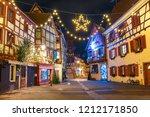 traditional alsatian half... | Shutterstock . vector #1212171850