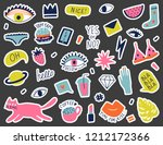 collection with hand phrases... | Shutterstock .eps vector #1212172366