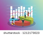 business graph growth concept... | Shutterstock .eps vector #1212173023