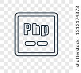 php concept vector linear icon... | Shutterstock .eps vector #1212174373