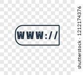 www concept vector linear icon... | Shutterstock .eps vector #1212174376