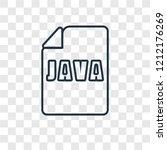 java concept vector linear icon ... | Shutterstock .eps vector #1212176269