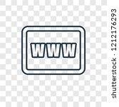www concept vector linear icon... | Shutterstock .eps vector #1212176293