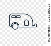 caravan concept vector linear...   Shutterstock .eps vector #1212180223