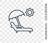sunbed concept vector linear... | Shutterstock .eps vector #1212181036
