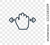 hand move concept vector linear ...