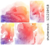 set of colorful abstract...   Shutterstock . vector #121218418