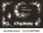 set of christmas vector floral...   Shutterstock .eps vector #1212189586