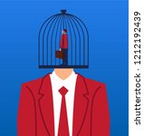 businessman trapped in the... | Shutterstock .eps vector #1212192439