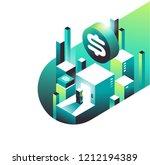 finance freedom gateway. flat... | Shutterstock .eps vector #1212194389