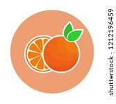 orange sticker. cartoon vector... | Shutterstock .eps vector #1212196459