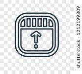 drag concept vector linear icon ...