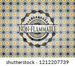 non flammable arabic badge... | Shutterstock .eps vector #1212207739