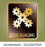 shiny badge with mechanism... | Shutterstock .eps vector #1212207910