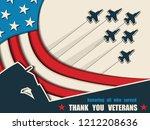 happy veterans day. greeting... | Shutterstock .eps vector #1212208636