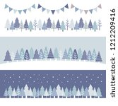 set of winter woods   vector... | Shutterstock .eps vector #1212209416