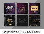 black friday modern promotion... | Shutterstock .eps vector #1212215290