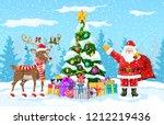 christmas tree background.... | Shutterstock .eps vector #1212219436