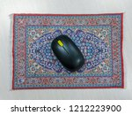 persian mouse pad with black... | Shutterstock . vector #1212223900