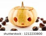 Halloween Pumpkin And Chestnut...