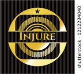 injure gold shiny badge | Shutterstock .eps vector #1212234040
