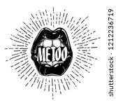 metoo. me too movement pop art ... | Shutterstock .eps vector #1212236719