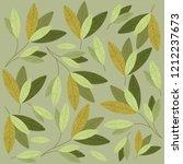green leafs pattern background | Shutterstock .eps vector #1212237673
