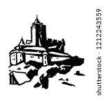 a castle kost at czech republic | Shutterstock . vector #1212243559