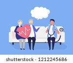 characters of people healthcare ... | Shutterstock .eps vector #1212245686
