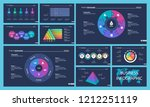 set of strategy or planning... | Shutterstock .eps vector #1212251119