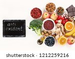 food sources of natural... | Shutterstock . vector #1212259216