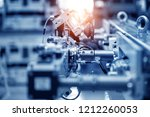 robotic artificial automated... | Shutterstock . vector #1212260053