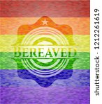 bereaved lgbt colors emblem  | Shutterstock .eps vector #1212261619