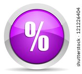 percent violet glossy icon on... | Shutterstock . vector #121226404