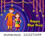 vector design of indian kids... | Shutterstock .eps vector #1212271459