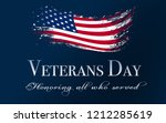 veterans day background with... | Shutterstock . vector #1212285619