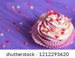 Closeup Cupcake With Creamy...