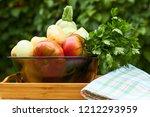 fresh garden vegetables and...