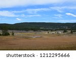 white dome geyser cone at lower ... | Shutterstock . vector #1212295666