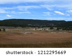 white dome geyser cone at lower ... | Shutterstock . vector #1212295669