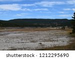 white dome geyser cone at lower ... | Shutterstock . vector #1212295690